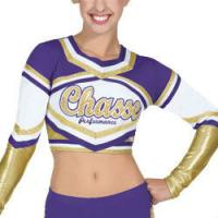Buy cheap Customized Sexy Cheerleading Wear Tops with Medalist Metallic Crop from wholesalers