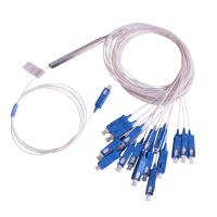 China PLC Splitter 1×16 Single Mode Blockless 0.9mm Fiber Cable with SC/UPC SC/APC Connectors on sale