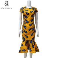 Ankara Fishtail African Print Dresses , Traditional African Women's Clothing Manufactures