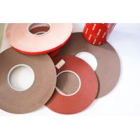 Double Sided Foam Tape Gray carrier material color 120 degree temperature resistant Manufactures