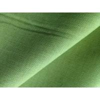 Green Yellow Dyed Fabric Cloth Linen Cotton Blend for Short Trousers / Skirts / Pillows Manufactures