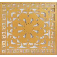 China Art Flower Aluminum Wall Panel CNC Carved Exterior PVDF Coating on sale