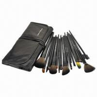 Professional Manufacture Black 18-piece Synthetic Hair Makeup Brush Set, OEM, ODM Orders welcomed Manufactures