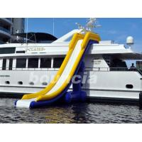 7.7m Long Inflatable Water Slide For Yacht , Yacht Inflatable Water Slide Manufactures