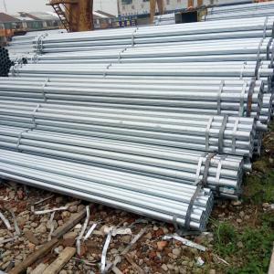 Hot Dipped Galvanized Steel Round Pipe / Welded GI Pipe Custom Diameters Zinc Coating Manufactures