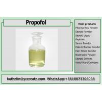 China Light Yellow Liquid Pain Killer Diprivan / Propofol For General Anesthesia CAS 2078-54-8 on sale