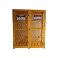 China 8 Shelves Compressed Gas Cylinder Storage Cabinets With 2 Warning Label 72 Inch on sale
