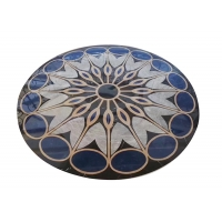 China Interior Hall Honed Dia 3m Round Marble Floor Medallions on sale