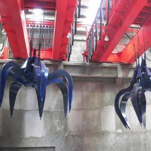 China Electric Hoist Garbage Crane Waste Handling Clamshell Grab Bucket Crane on sale