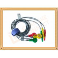 Durable Din Style Safety 3 Lead Ecg Cable With PU Material , IEC Standard Manufactures