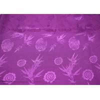 Flower Jacquard Polyester Stretch Lining Fabric 103gsm Woven Feature Manufactures