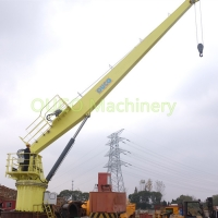 Fixed Marine Small Lifting Straight Boom Crane With Reliable Components Manufactures
