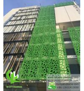 Exterior  Green  Aluminum Facade Panels Metal Curtain Wall Decoration Manufactures