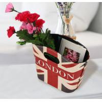 British Style Storage Basket PU Leather Handles Box Holder Foldable Desk Organizers Hanging Basket Manufactures