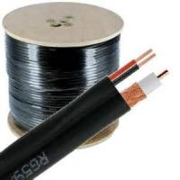 95% CCA Braid CCTV RG59 Coaxial Cable 20 AWG BC Conductor Foamed PE Siamese Cable Manufactures