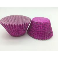 Luxuriant Purple Paper Cupcake Liners Printed Round Paper Cake Cup Mold Baking Set Manufactures