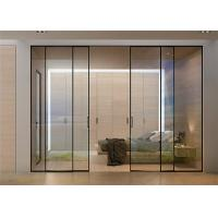 Clear Glass Commercial Aluminium Doors Horizontal Sliding Opening Direction Manufactures