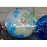 China Helium Earth Inflatable Advertising Signs With LED Lights PVC Tarpuline on sale