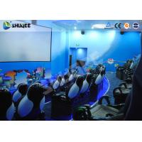 Amusement Park Animatiom 4D Movie Theater With Black Leather Pneumatic Seats Manufactures