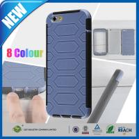 Blue Dual Layer PC TPU Apple iPhone 6 Plus Case , 5.5 inch Cell Phone Back Case Manufactures