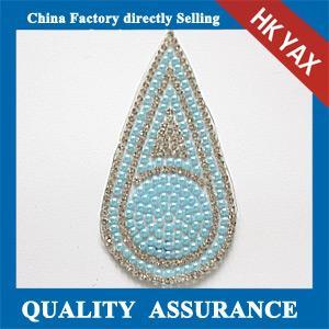 Glass beads rhinestone patch, glass rhinestone patch, china supplier rhinestone glass patch Manufactures