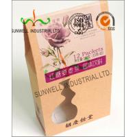 PVC Windows Cardboard Food Packaging Boxes , Self Closing Cardboard Takeaway Containers Manufactures