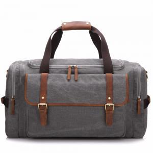 Washable Canvas Travel Duffel Bags Grey / Pink / Sliver Colors W31*D16*H44cm Manufactures