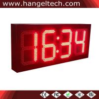China 10 Inches Outdoor High Brightness Large LED Numeric Wall Clock on sale