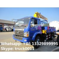2019s best seller forland 4*2 6.3tons truck with crane for sale, hot sale! factory sale forland truck mounted crane Manufactures