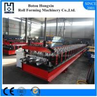 China Trapezoidal Profile Floor Deck Roll Forming Machine With Punching 30 Rows Roller on sale