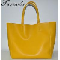 2014 ladies genuine leather famous brand yellow handbags fashion Manufactures