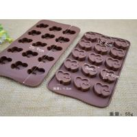 China Double Heart Shape Silicone Chocolate Molds Keeping Prefect Outlooking on sale