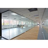 Powder Coated 12mm Glass Modular Office Partition Walls Frame Or Frameless Style Manufactures