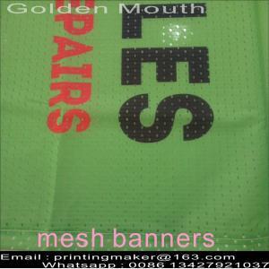 Custom Size 350G PVC Vinyl Mesh Banners Manufactures