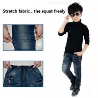 China Hot sell wholesale children clothing adjustable elastic waist kids boys jeans on sale