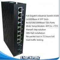 Buy cheap 10 ports gigabit switch with 8×10/100/1000BaseT(X) ports and 2×1000BaseX SFP slots i510A from wholesalers