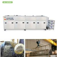 Heat Exchanger Ultrasonic Vessel Cleaning Machine 1800L Large Capacity Clean Radiator Manufactures
