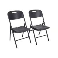 China Wooden Grain Black Plastic Folding Chairs / HDPE Outdoor Plastic Folding Seat on sale