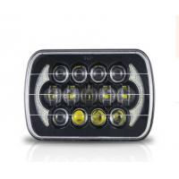 Jeep Wrangler Car Light Bar 85w Cree 7 Inch Black Projector LED Headlights With DRL Manufactures
