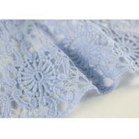 Guipure Dying Lace Fabric With Floral Water Soluble Lace Design For Dress