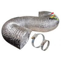 HVAC Air refresh fire resistant customized sizes aluminum foil flexible duct , pipe 120mm  150mm Manufactures