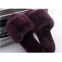 Lamb Fur Fuzzy Sheepskin House Slippers Winter Indoor For Keeping Warm Manufactures