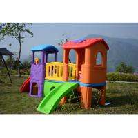 China Environmental Plastic Slide Swing Playhouse Set Outdoor Toys For Kids Age 6 Years on sale