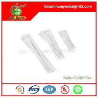 China 100 Pcs Yellow Adjustable Self-locking Nylon Cable Ties Cabling Labels 6.4x370mm on sale