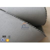 Grey 1500gsm 1.5mm E Glass Cloth , Silicone Coated Fiberglass Cloth Sheets Manufactures