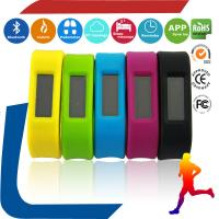 Colorful silicone band watch pedometer  Screen display OLED Pedometer Wristband Bluetooth Manufactures
