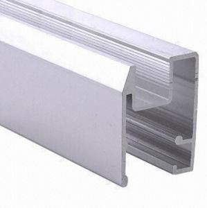 PVDF Painted Black Aluminum Window Extrusion Profiles , Bathroom Aluminum Sliding Windows Manufactures