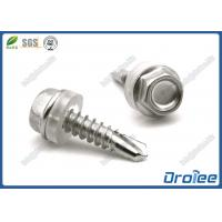 304/316/410 Stainless Steel Hex Washer Self-Drilling Tek Screw W/ Plastic Washer Manufactures