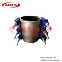China ductile iron pipe adjustable band repair clamp on sale
