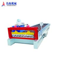 High Quality Color steel plate metal sheet corrugated roof panel making roll forming machine Manufactures